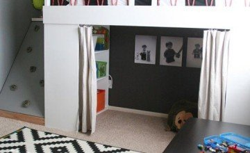 small kids room design with bed