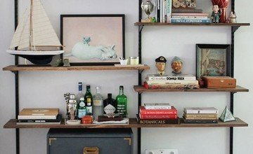 wall mounted bookcase for small flats