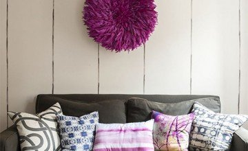 small space decorating with colorful pillows