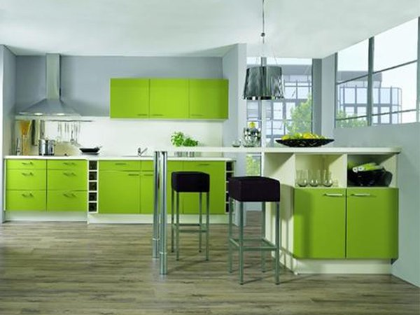 Green kitchen designs Modern green kitchen ideas